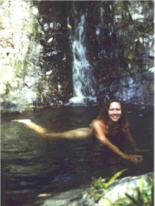 skinnydipping in the top falls